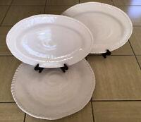 Tommy Bahama~Nautical Rope~Three White Serving Platters~Two Sizes ~100% Melamine