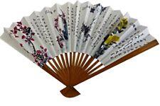 EVENTAIL Bois Papier CHINOIS Accessoire Déguisement Femme Japonaise