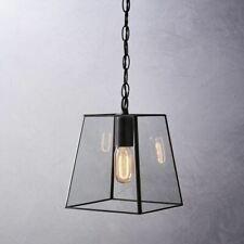 A empresa Novo Branco Brooklyn Grande Pingente Luz De Teto Claro/preto Rrp £ 225