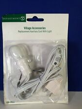 Dept 56 Snow Village Replacement Auxiliary Light Cord With Bulb 56.53039 New!