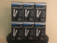 Omnis Health Embrace Blood Glucose Diabetic Test Strips 300 CT--EXP: 12-2020+