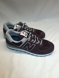 New Balance Mens ML574EGB Burgundy/Grey Fashion Sneaker Size 12 NEW Without Box
