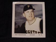 ULTRA RARE Dave Wickersham Pittsburgh Pirates 8 3/4 x 9 1/2 Color Photo, WOW!