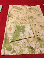 Vintage  Bright Green flower power water lily Percale Pillowcases Cotton Blend