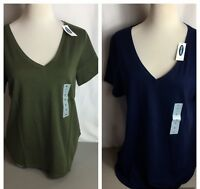 Old Navy Women's V Neck T-Shirt Size M, L, XXL In Blue & Green - NEW!