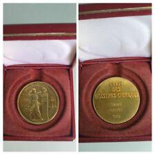 Médaille Argent massif / Vermeil / plaqué or /Buste de Lavoisier Chimie /Minerve