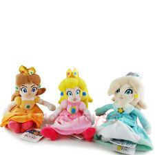 3Pcs Super Mario Brothers 8'' Princess Peach & Rosalina & Daisy Plush Toy Doll