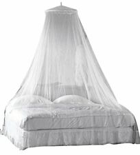 UK SELLER WHITE MOSQUITO NET BED COVER CANOPY FLY UPTO KING SIZE HOLIDAY CAMPING