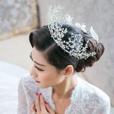 Luxury Crystal Queen Crown Wedding Bridal Pageant Headbands Tiara Prom Jewelry