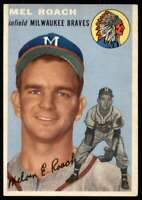 1954 Topps Mel Roach Milwaukee Braves #181