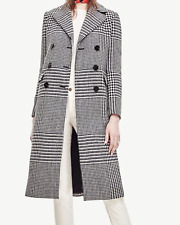 Ann Taylor Double Breasted Plaid Coat - NWT - $278 - S, SP, M