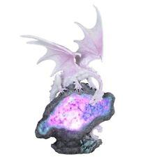 Silvery Dragon On LED Crystal Stone Figurine