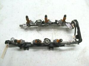 2015-2018 Infiniti Q70 OEM VQ37VHR Engine Fuel Injectors With Rail And Harness