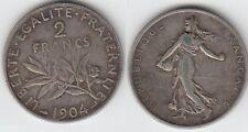 Gertbrolen 2 Francs Argent Type Semeuse 1904
