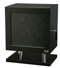 Fiber Signature Series Box Case New Volta Automatic Quad 4 Watch Winder Carbon