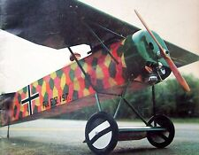 """Vintage FOKKER D-VIII Rare 55"""" Span RC PLANS + Article for Scale Model Airplane"""