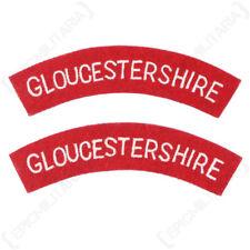 Gloucestershire - WW2 Repro Shoulder Title Badge Patch Sleeve Arm Flash Uniform