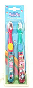 Girls Peppa Pig Twin Pk Manual Toothbrushes  3 Yrs + New Free P+P New Design