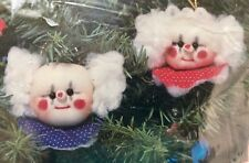Hobby Kraft Vintage Ornament Kit CLOWNS Unique Soft Sculpture Quick Fun Easy