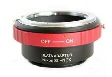 ULATA Lens Mount Adapter Nikon G AF-S to Sony E FE NEX Mount A7 NEX 6 AIGNEXRD