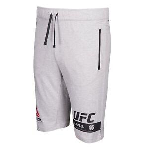Reebok UFC Men's Grey Fan Gear Fleece Shorts S98489