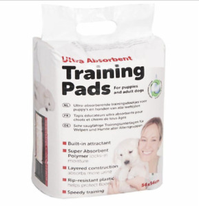 14 x Ultra Absorbent Pads Dog Toilet Training Aid Puppy & Adult Dogs 56 x 56cm