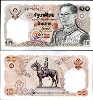 THAILAND 10 BAHT P 87 SIGN 53 AUNC ABOUT UNC