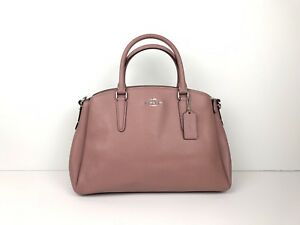 COACH SAGE CARRYALL Satchel F28976 DUSTY-ROSE/SILVER