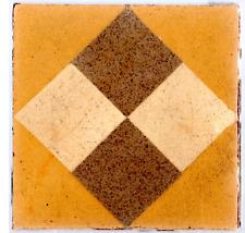 9 FLOOR ANTIQUE ORIGINAL TILES 1 SQ. FOOT ROMEU ESCOFET SPAIN Stoneware yellow