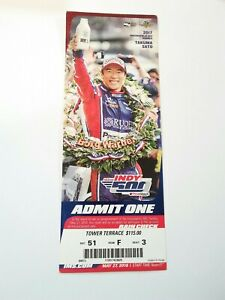 2018 Indianapolis Indy 500 Ticket Stub Will Power Takuma Sato Creases
