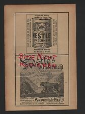 HAMBURG, Werbung 1910, Deutsche AG für Nestle-Erzeugnisse Kindermehl Alpenmilch