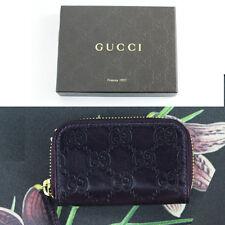 NEW $265 GUCCI GUCCISSIMA Purple GG Guccissima LEATHER Zip Around WALLET Case