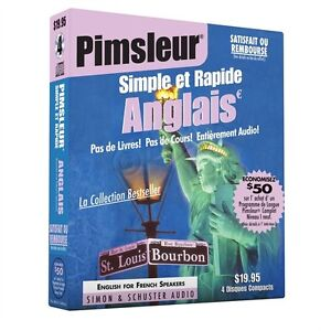 NEW 4 CD Pimsleur English for French Speakers