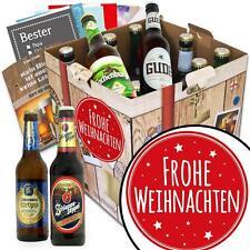 Frohe Weihnachten - Weihnachtsgeschenk Bier Box mit deutschen Bieren 9BBD-FroheW
