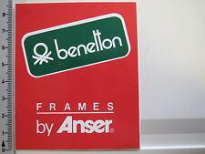 Aufkleber Sticker Benetton - Frames by Anser Sponsor Formel 1 90er Jahre R(1909)
