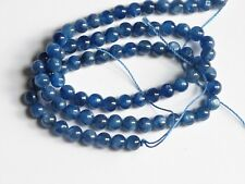 Top quality Silver blue kyanite round beads 8mm, Half strand