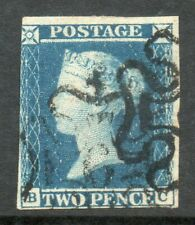GB 1841 2D BLUE WITH NO. 6 IN MALTESE CROSS, SG14f CAT £700 BC