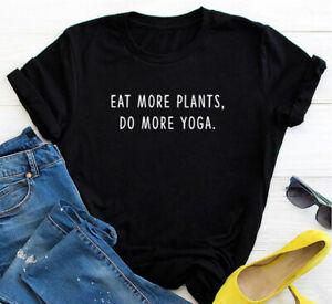 Eat More Plants, Do More Yoga || Vegan Inspired Yogi Fashion Unisex T-shirt Top