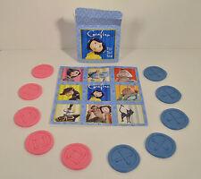 "RARE 2008 Coraline Movie 5.5"" Button Tic Tac Toe Board Game Hardee's Carl's Jr"