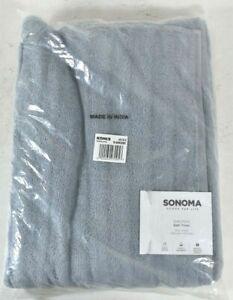 "Sonoma Goods for Life Quick Dry Ribbed Bath Towel Light Blue 91SNNQDBT 30"" x 54"""