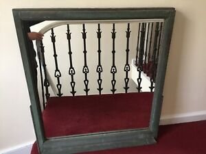 Antique Copper Wrapped Window Frame Mirrors From A New York City Building