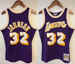 Magic Johnson Los Angeles Lakers LA Mitchell & Ness NBA Authentic Jersey Earvin