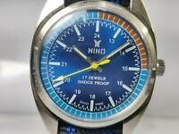 Vintage Nino Mens Analog Dial Mechanical Handwinding Movement Wrist Watch VG47