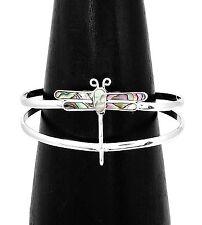 Elegant Abalone Dragonfly Spirit of Change Bracelet Taxco Mexico