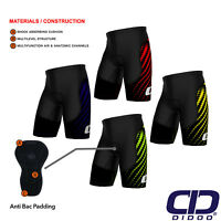 Didoo Mens Sublimation Cycling Shorts Padded Pants Biking Gym Tight Base Layer