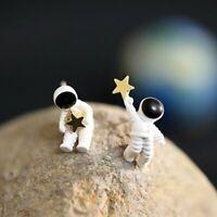 Creativity Astronaut Space Cute Earrings Ear Stud Women Asymmetry Jewellery Gift