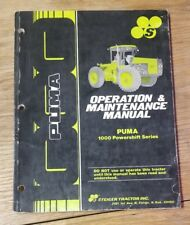 Puma 1000 Powershift Series Operation & Maintenance Manual 1J-2092-X19