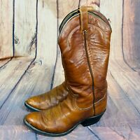 TONY LAMA Brown Leather Western Cowboy Boots 5084 USA Mens Size 8 D