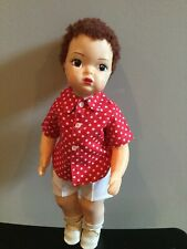 Doll Terri Lee Jerri Lee auburn caracul wig in Shorts and Shirt Tagged 1950's