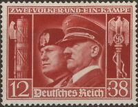 Stamp Germany Mi 763 Sc B189 1941 WW2 Adolf Mussolini Italy Berlin Rome MNH